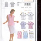 Burda pattern 8218 Blouse short sleeve no sleeve    Sizes 10-22   uncut