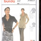 Burda pattern 8287    Blouse short sleeve or  long sleeve    Sizes 10-24  uncut