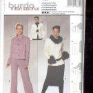 Burda pattern 8392  Coordinates-  Pants, Skirt, jacket    Sizes  12-22   uncut
