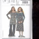 Burda pattern 9721   coordinates Dress, top, pants  Sizes  7- 14 junior  uncut