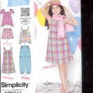 Simplicity Pattern 1817 Girls  Dress or top, pants ,shorts- sizes AA- 8-16 uncut