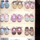 Simplicity Pattern 2491  Baby Shoes  sizes A. XS- L  uncut