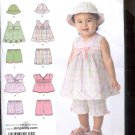 Simplicity Pattern 2625 Babies Top, Shorts and hat - sizes A- XXS- L uncut