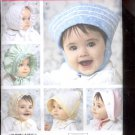 Simplicity Pattern 3840  Baby bonnets in three sizes   sizes  A  all sizes uncut