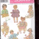Simplicity Pattern 5415     Wardrobe for baby dolls in 3 sizes  -  uncut