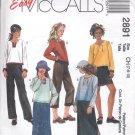 McCalls Pattern  2891  Girls shirt, skirt, pants   sizes-CH- 7-10 uncut