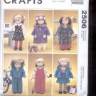 "McCalls Pattern Crafts   2506  -18"" Doll Clothes and dog   sizes-CH- 7-10 uncut"