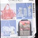McCalls Pattern Fashion Accessories- M4403- Bags and car Organizer-  uncut