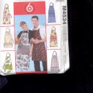 McCalls Pattern Fashion Accessories- M4534- Misses and Men's aprons-  uncut