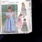 McCalls Pattern 3601 - Children's and girls dresses- size CE 3-5     uncut