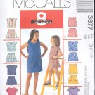 McCalls Pattern 3677 - Children's and girls top and skorts- size CH 7-10    uncut