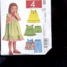 McCalls Pattern M5835-  Toddlers tops, dresses, shorts, - size CCB  1-4   uncut