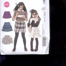 McCalls Pattern M6391-  Childrens' Skirts and Shorts, - size CCE- 3-6