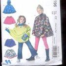 McCalls Pattern M6196 Children's Ponchos & Arm waarmers- size CZ-m-Xlg    uncut