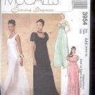 McCalls Pattern 3954 - Misses Dresses, Floor length, - size AAX- 4-10     uncut