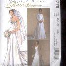 McCalls Pattern M4776 - Misses Dresses, Floor length, - size AAX- 4-10     uncut
