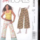 McCalls Pattern M5813- Misses pants in two lengths, - size Y- XSM- MED  uncut