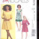 McCalls Pattern M5578- Misses Dresses, - size A5- 6-14 uncut