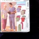 McCalls Pattern 3253 Misses, Mens Cardigan, top, pants-size Y- Sml-Large  uncut
