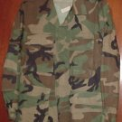 BDU's Woodland Camo Shirt-  Small- X-Short (# 39)