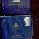 Avon Silk Finish eyeshadow duo- # 19- Teal Suede, Amber Suede- NOS