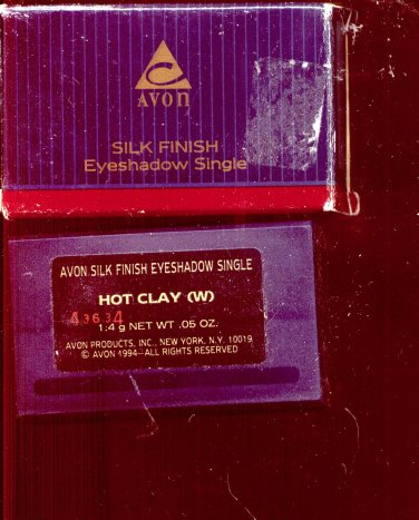 Avon  Silk Finish eyeshadow single- Hot Clay- NOS