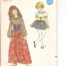 Butterick pattern 6003 Childrens & Girls One Piece Dess  Size 8
