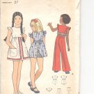 Butterick pattern  3098 Childrens & Girls dress, playdress, top, pants & shorts-  Size 8