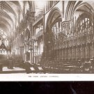 The Choir Lincoln Cathedral Postcard- (# 119)