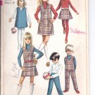 Simplicity pattern 7785  Childs and girls jumper or top, skirt, pants   Size 6