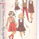 Simplicity pattern 6111 Childs & girls Jumper or top, blouse, skirt,  Size 6