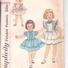 Simplicity pattern 3379  Childs Dress and Pinafore-   Size 6
