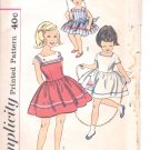 Simplicity pattern 3459  Childs One-piece dress-   Size 6