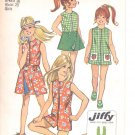Simplicity pattern 9440  Childs ,  and Girls Jiffy Pantdress and Reversible  skirt    Size 7