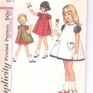 Simplicity pattern 5202  Childs  one piece dress with collar & pinafore-  Size 5