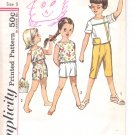 Simplicity pattern 4462  Childs Pants in two lengths and tops-  Size 5