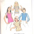 Simplicity pattern 5439  Childs and Girls set of tops   Size 8