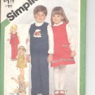 Simplicity pattern 5241  Childs pullover sundress, jumper or top, -   Size 2