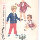 Simplicity pattern 3288  Toddlers pants , shirt and jacket   Size 4