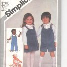 Simplicity pattern 5631  Toddlers overalls, jumper, shirt and hat  Size 1/2-1