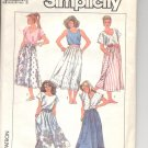 Simplicity pattern 8028   Misses  Skirts-  Size 6