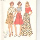 Simplicity pattern 7395   Misses  Back-wrap skirt and top-  Size 6-8