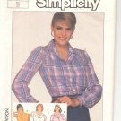 Simplicity pattern  7662   Misses  Shirts-  Size 14