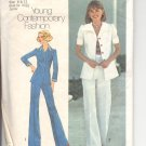 Simplicity pattern 6892    Juniors / Misses Shirt-Jacket and pants-  Size  9-11