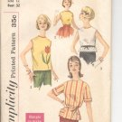 Simplicity pattern  3777   Teen and Jr. set of blouses and tie belt-  Size  12
