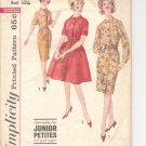 Simplicity pattern 4610  Jr Petites  one-piece with 2 skirts -  Size  9JP