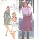 Simplicity pattern 7120   Young Jr. /Teens and Misses  Skirt and bag -  Size 7/8