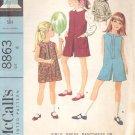 McCalls  pattern 8863   Girls dress, pantdress or pantjumper, blouse -  Size 6