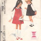 McCalls  pattern 7422   Childs Jumper and blouse-  Size 5