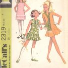 McCalls  pattern 2319     Girls Dress in three versions and scarf-  Size 7